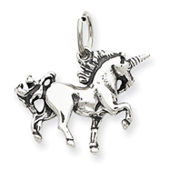 Sterling Silver Antiqued Unicorn Charm
