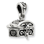 Sterling Silver Antiqued Chest Pendant