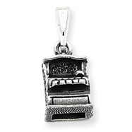 Sterling Silver Antiqued Cash Register Charm