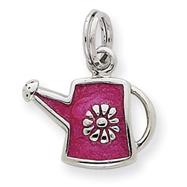 Sterling Silver Dark Pink Water Jug Charm