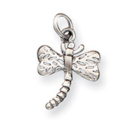 Sterling Silver Antique Dragonfly Charm