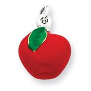 Sterling Silver Enameled Apple Charm