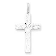 Sterling Silver Diamond-Cut Cross