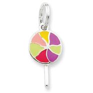 Sterling Silver Enameled Lollipop Charm