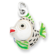 Sterling Silver Enameled Charm
