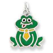 Sterling Silver Enameled Frog Charm