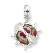 Sterling Silver Resin Ladybug Charm