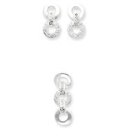 Sterling Silver CZ Earring & Pendant Set