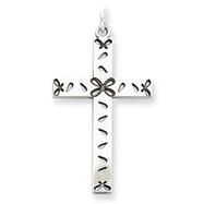 Sterling Silver Laser Designed Cross Pendant