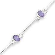 Sterling Silver Lavender Jade Bracelet
