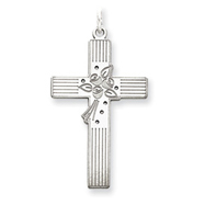Sterling Silver Laser Designed Cross Pendant
