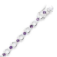 Sterling Silver Amethyst Bracelet