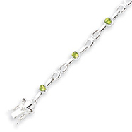 Box Catch Peridot Sterling Silver Polished