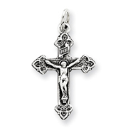 Sterling Silver Antiqued INRI Crucifix Pendant