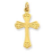 Sterling Silver 24K Gold Plated Cross Charm