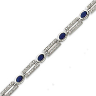 Sterling Silver Dark Blue CZ Bracelet