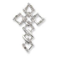 Sterling Silver Cubic Zirconia Cross Slide