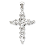 Sterling Silver Cubic Zirconia Passion Pendant