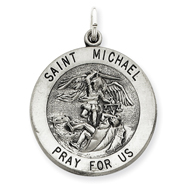 Sterling Silver Large Saint Michael Charm