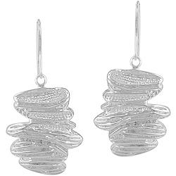 Sterling Silver Tree Bark Dangle Earrings