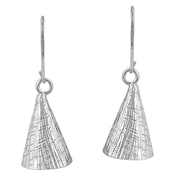 Sterling Silver Cone Earrings