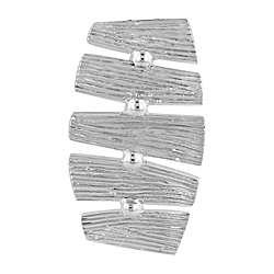 Sterling Silver Tree Bark Pendant