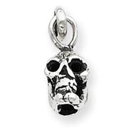Sterling Silver Antiqued Skull Charm