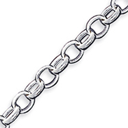 Sterling Silver 7.75inch Polished Fancy Link Toggle Bracelet