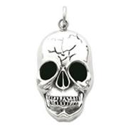Sterling Silver Skull Head Pendant