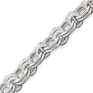 Sterling Silver 7.75inch Fancy Link Bracelet