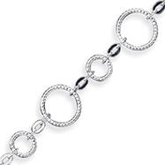 Sterling Silver 7.25inch Polished 3-Dimensional Circular Link Bracelet