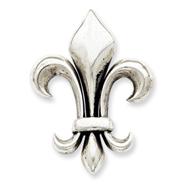 Sterling Silver Antiqued Fluer De Lis