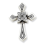 Sterling Silver Antiqued Passion Cross Pendant