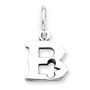 Sterling Silver Initial B Pendant