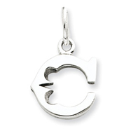 Sterling Silver Initial C Pendant
