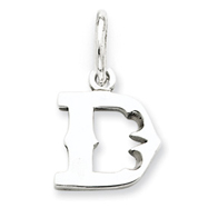 Sterling Silver Initial D Pendant