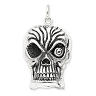 Sterling Silver Antiqued Skull Pendent