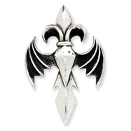 Sterling Silver Antiqued Gothic Pendant