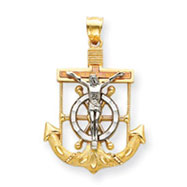 14K Tri-Color Gold Diamond-Cut & Textured Mariner