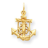 14K Gold  Mariners Cross Pendant