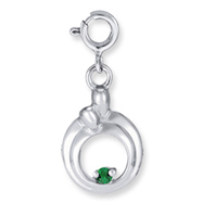 Sterling Silver Hearts of Promise Created May G. Alpanite Birthstone Charm