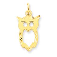 14K Gold Owl Charm
