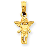 14K Gold Small Guardian Angel Pendant