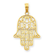 14K Gold Chamseh Pendant