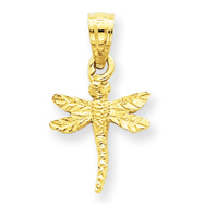 14K Gold Dragonfly Charm