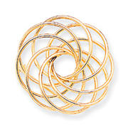 14K Gold Designer Pin