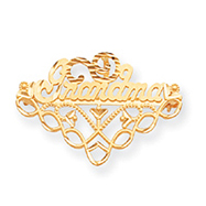 14K Gold Grandma Pin & Charm Holder