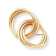 14K Gold Designer Pin