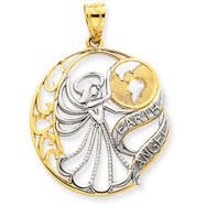 14K Gold & Rhodium Earth Angel Pendant