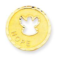 14K Gold  Angel Hope Pendant